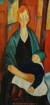Mother and Child II ( Homage to Amadeo Modigliani)